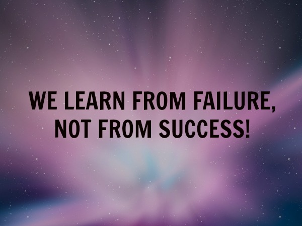 learn from failure 10 01 2014